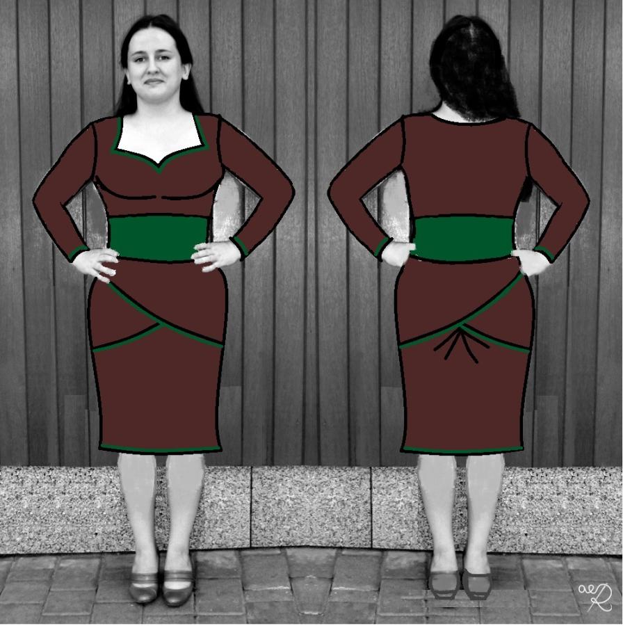 Sukienka na konkurs Elfki
