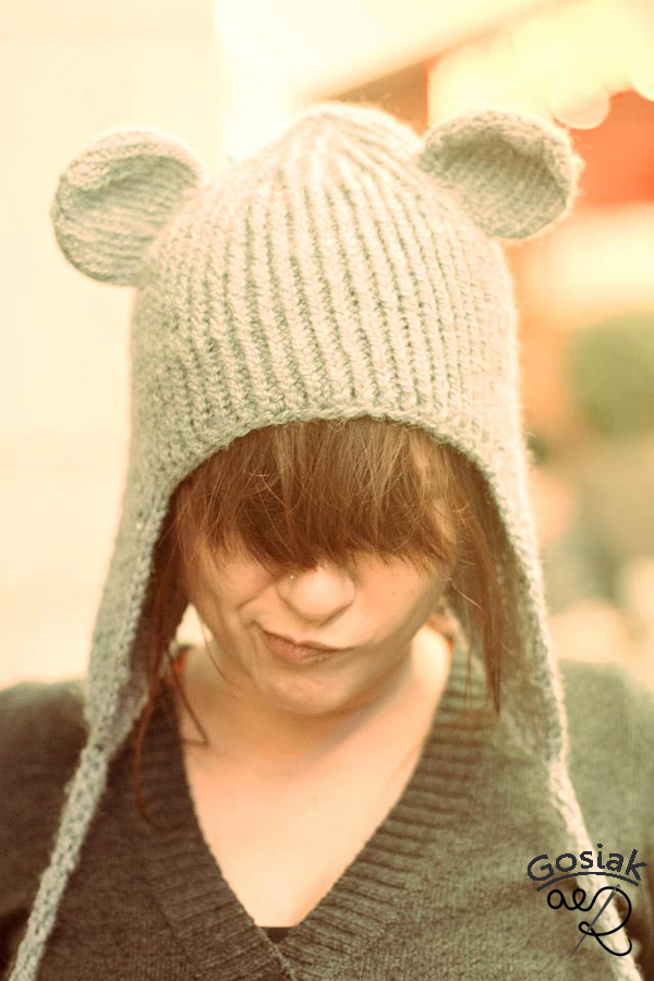 czapka uszatka z uszami
