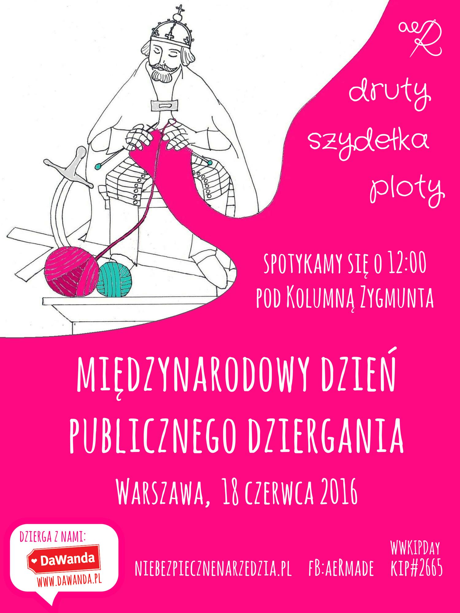 Międzynarodowy Dzień Publicznego Dziergania 2016 - plakat